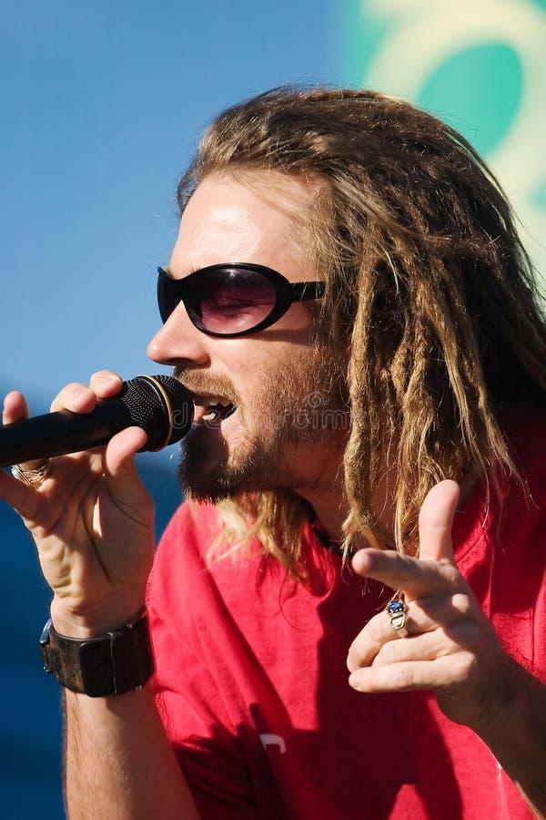 1 reggaesångarewhite arkivfoto