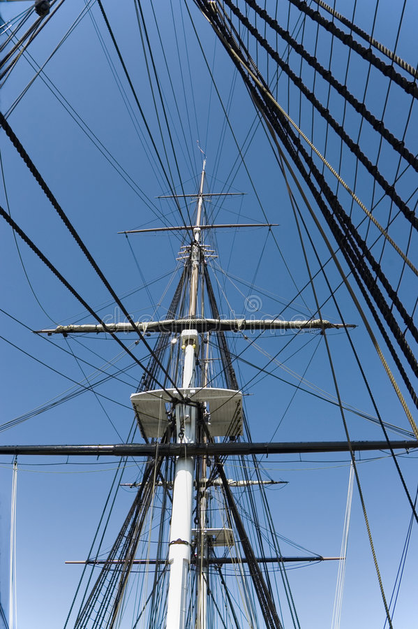 Download 1 rigging för masts arkivfoto. Bild av ironsides, kablar - 288648
