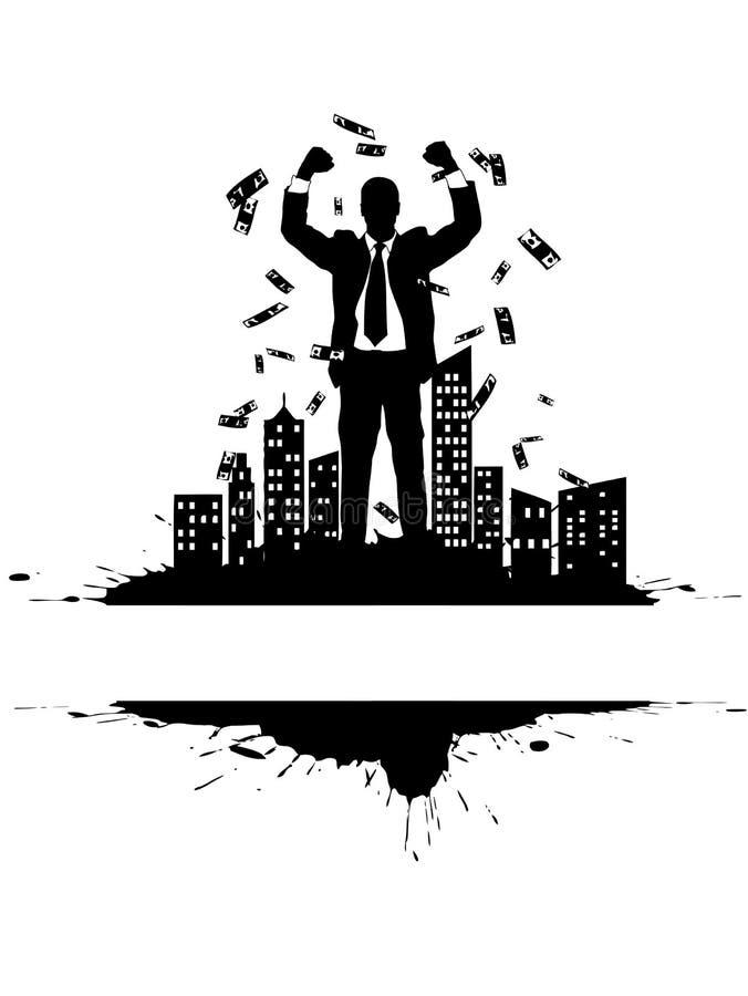 1 rikedom stock illustrationer