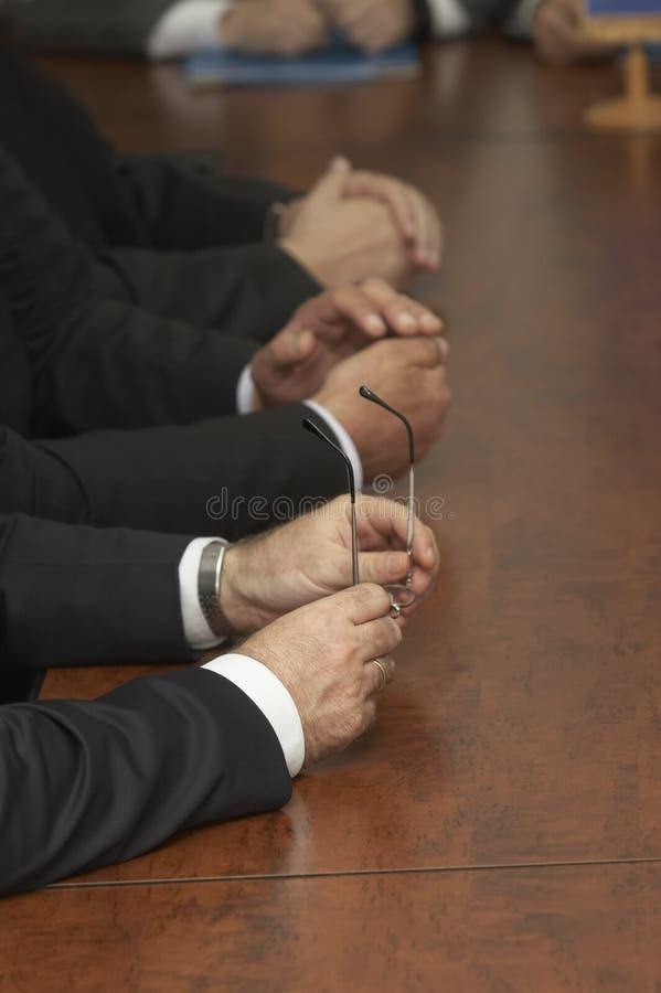 1 riunione delle mani fotografia stock