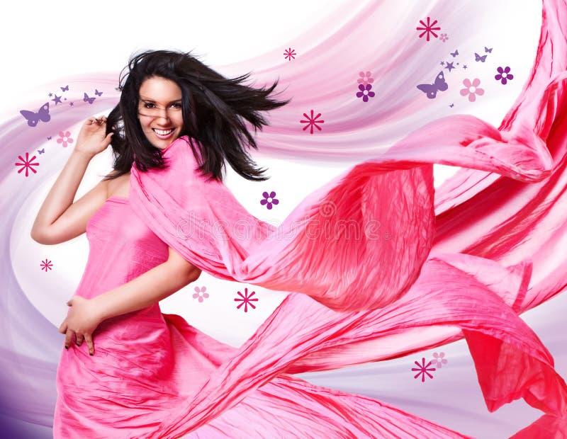 1 rosa wind royaltyfri foto