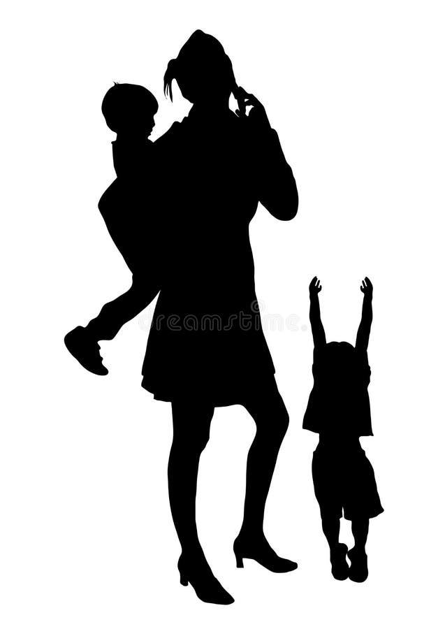 (1) ruchliwie mama ilustracji