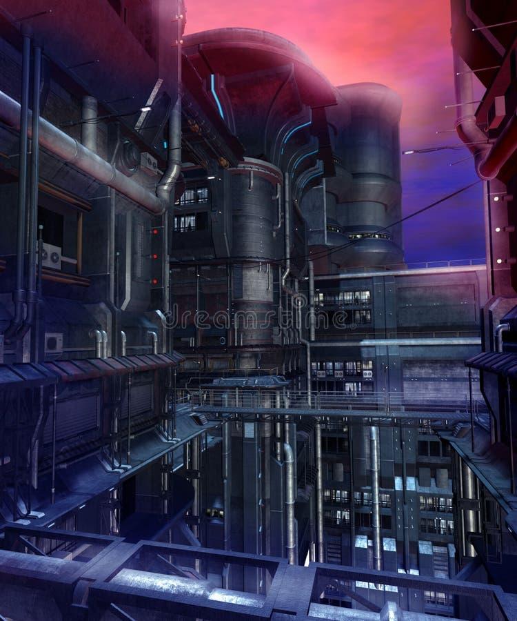 1 sci fi города бесплатная иллюстрация