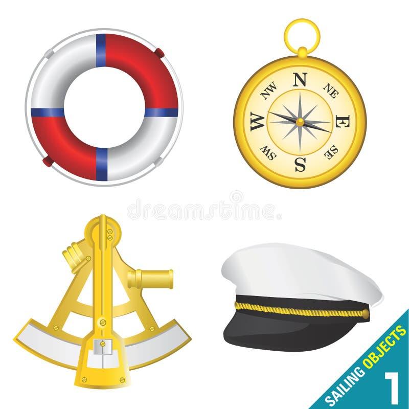 1 segla för objekt royaltyfri illustrationer