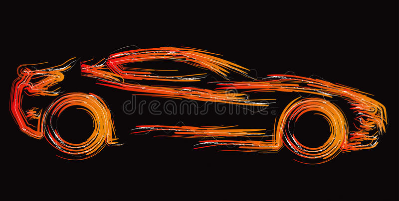 1 set silhouette för bil vektor illustrationer