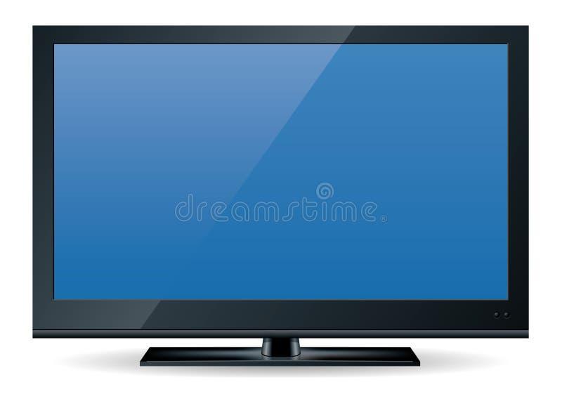 1 set television för hd vektor illustrationer