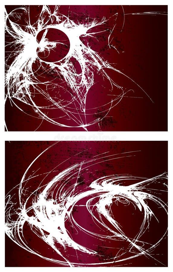 1 set vektor för bakgrundsgrunge royaltyfri illustrationer