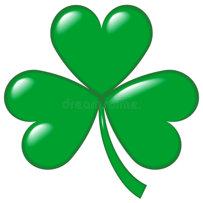 1 shamrock stock illustrationer