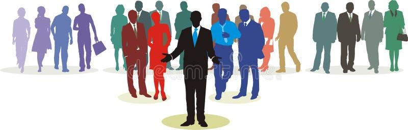 (1) sieci ludzie ilustracji