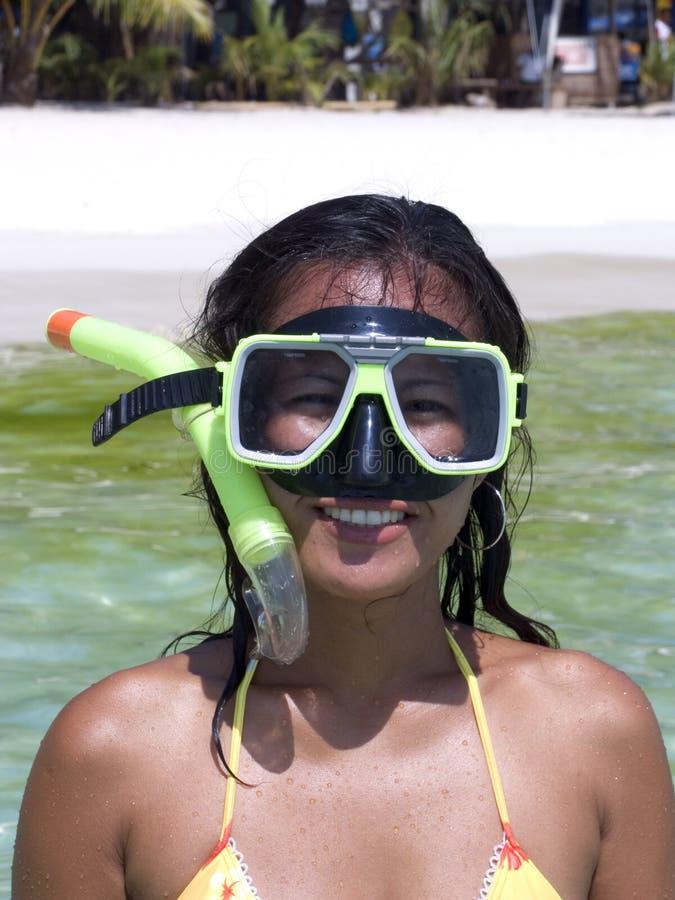 1 snorkel royaltyfria foton