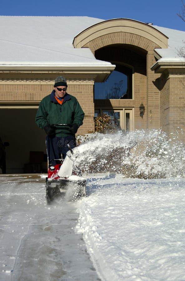 1 snowblower στοκ φωτογραφία με δικαίωμα ελεύθερης χρήσης