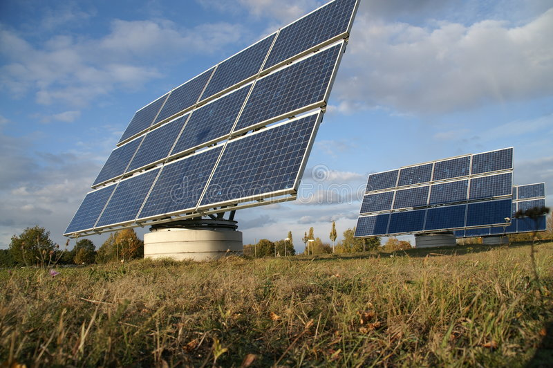 1 sol- ström arkivfoton