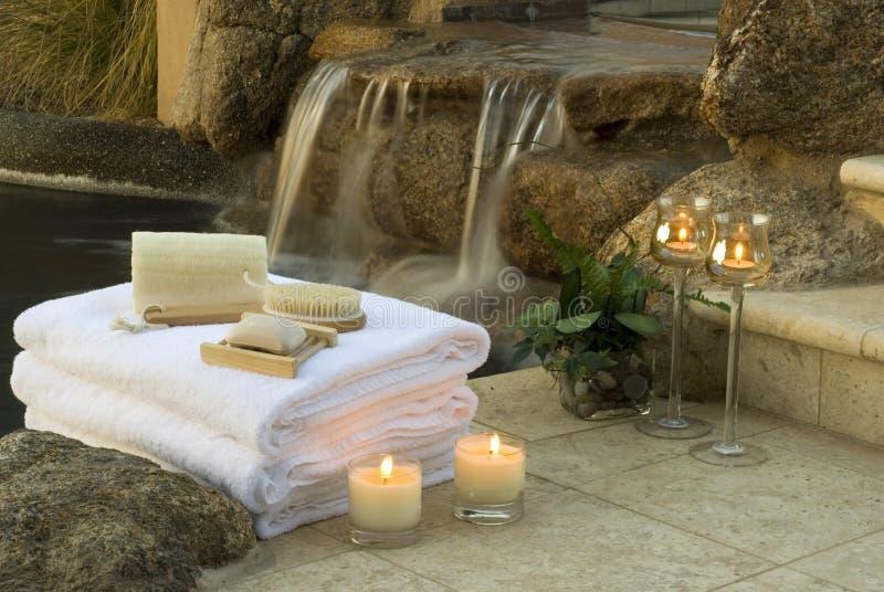 1 spa wodospadu zdjęcia royalty free