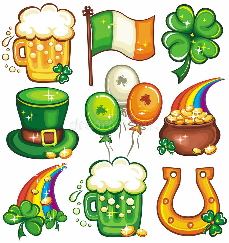 1 St. Patrick's Day icon set series 2 royalty free stock photography