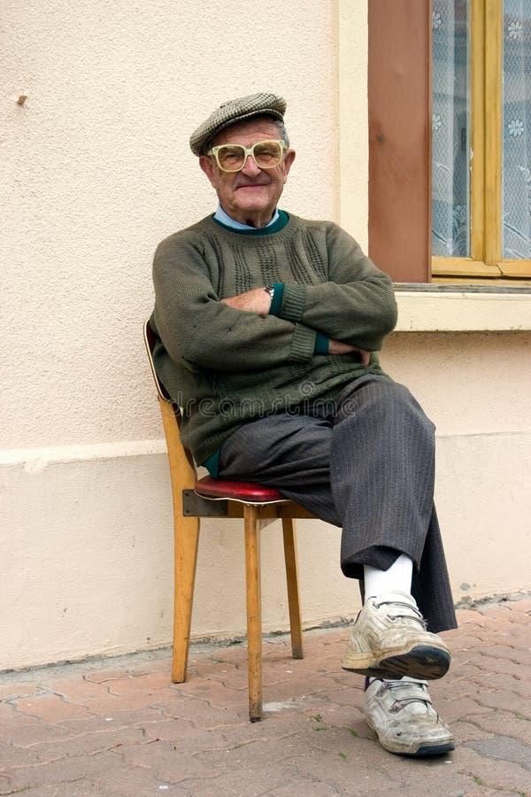 1 starszego mężczyzny obraz royalty free