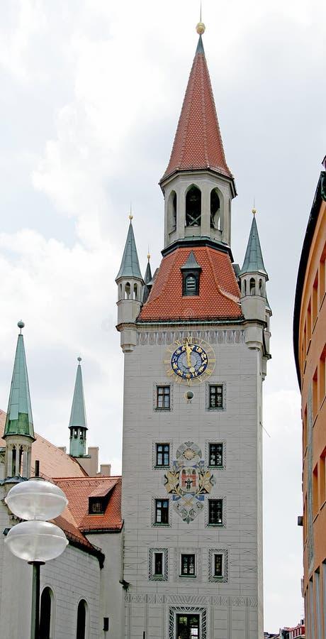 1 stary wieży zegara obrazy stock