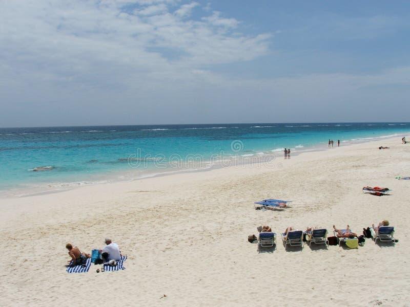 1 strand bermuda arkivbilder
