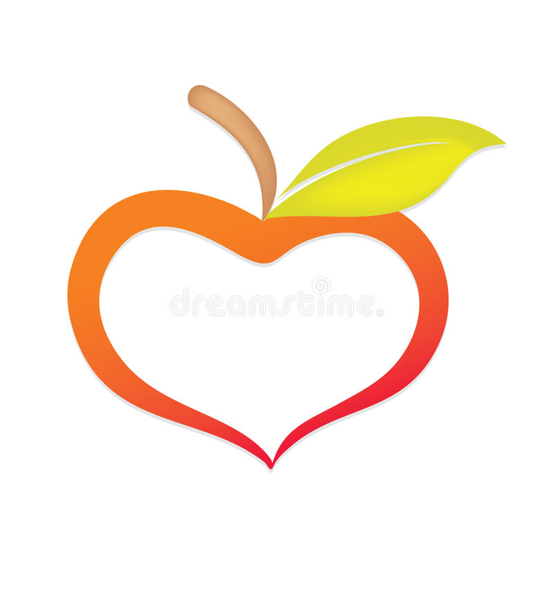 1 stylised äpplejpg royaltyfri illustrationer