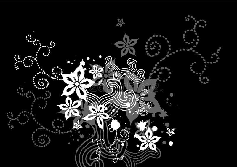 1 svarta blom- x royaltyfri illustrationer