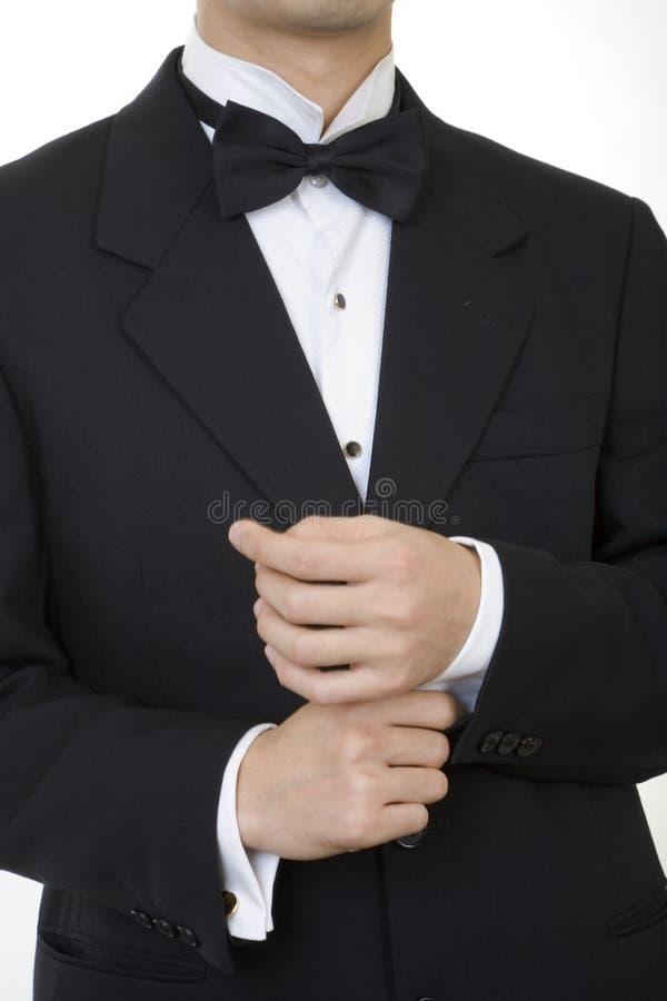 1 svarta dräkt arkivfoto
