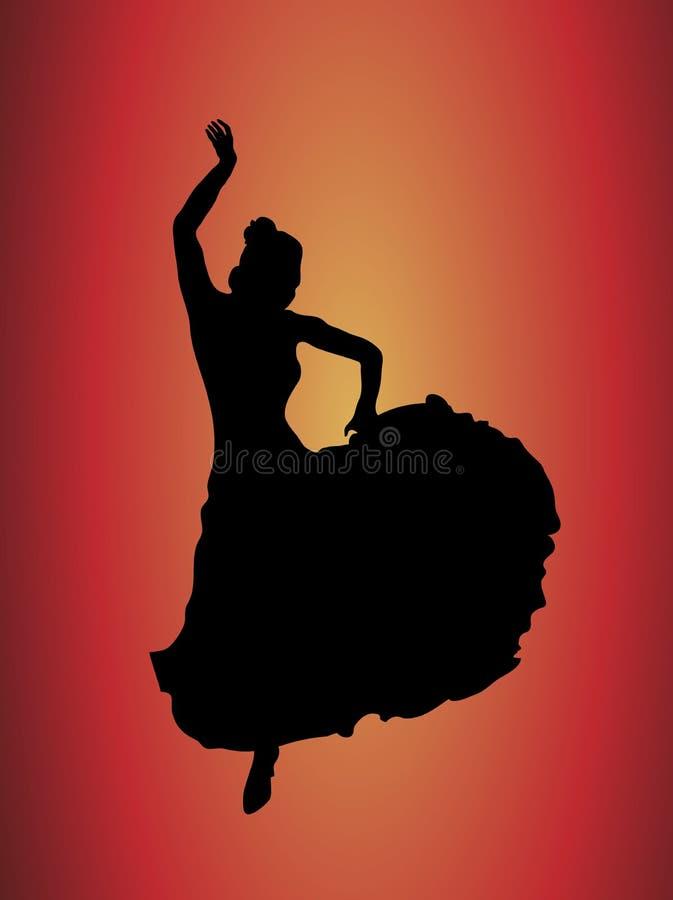 1 tancerkę flamenco royalty ilustracja