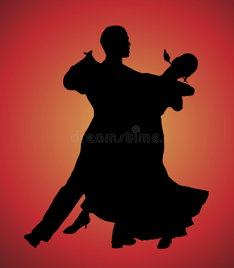 1 tango royaltyfri illustrationer