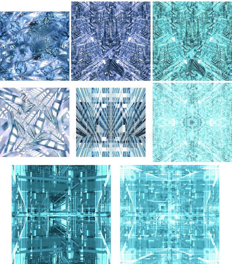1 Tekstury Miasto Przyszłości Zdjęcia Stock