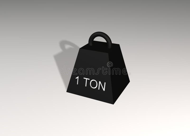 1 ton vektor illustrationer