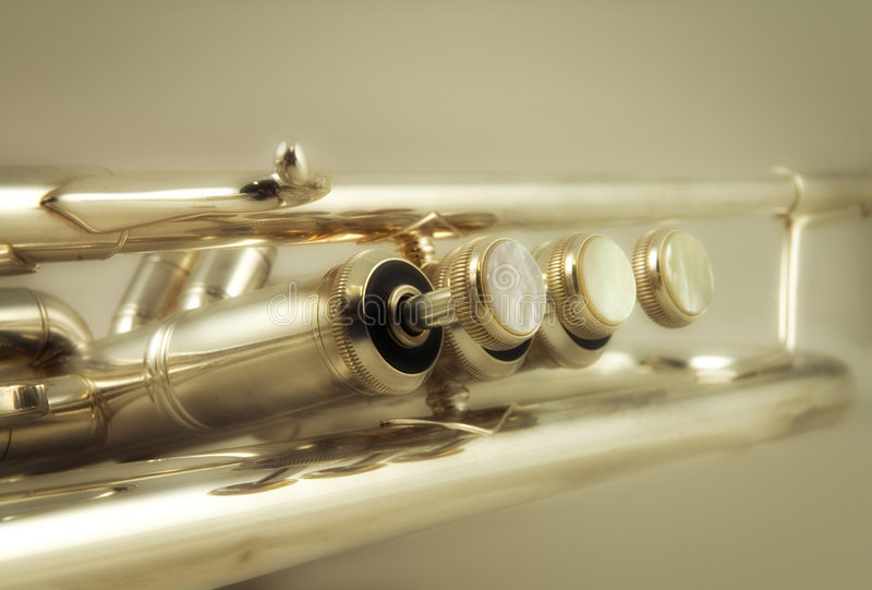 1 trumpet royaltyfri foto