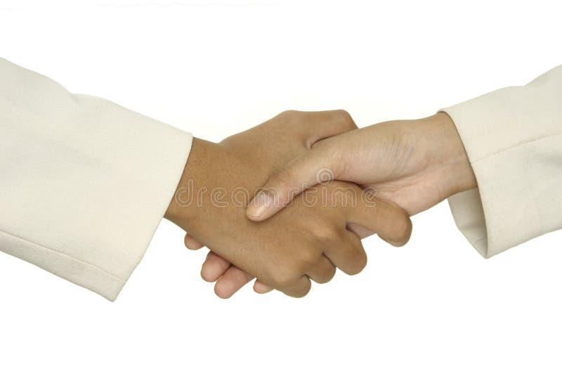 1 uścisk dłoni obrazy royalty free