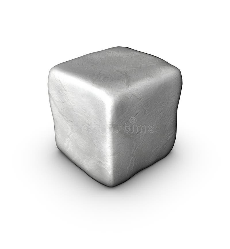 1 una piedra singular del adoquín 3d en blanco imágenes de archivo libres de regalías