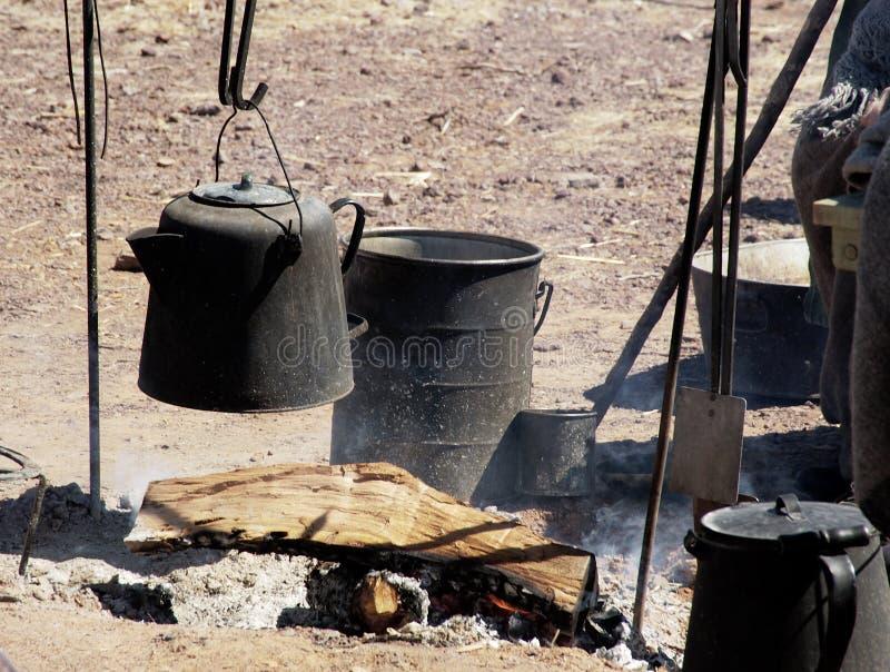 1 utomhus- matlagning fotografering för bildbyråer