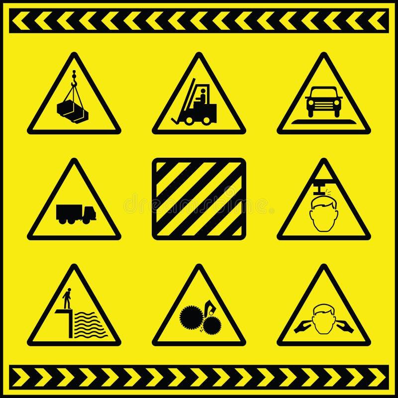 1 varna för faratecken royaltyfri illustrationer