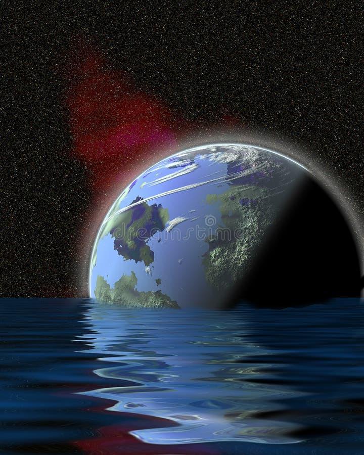 1 vattenvärld vektor illustrationer