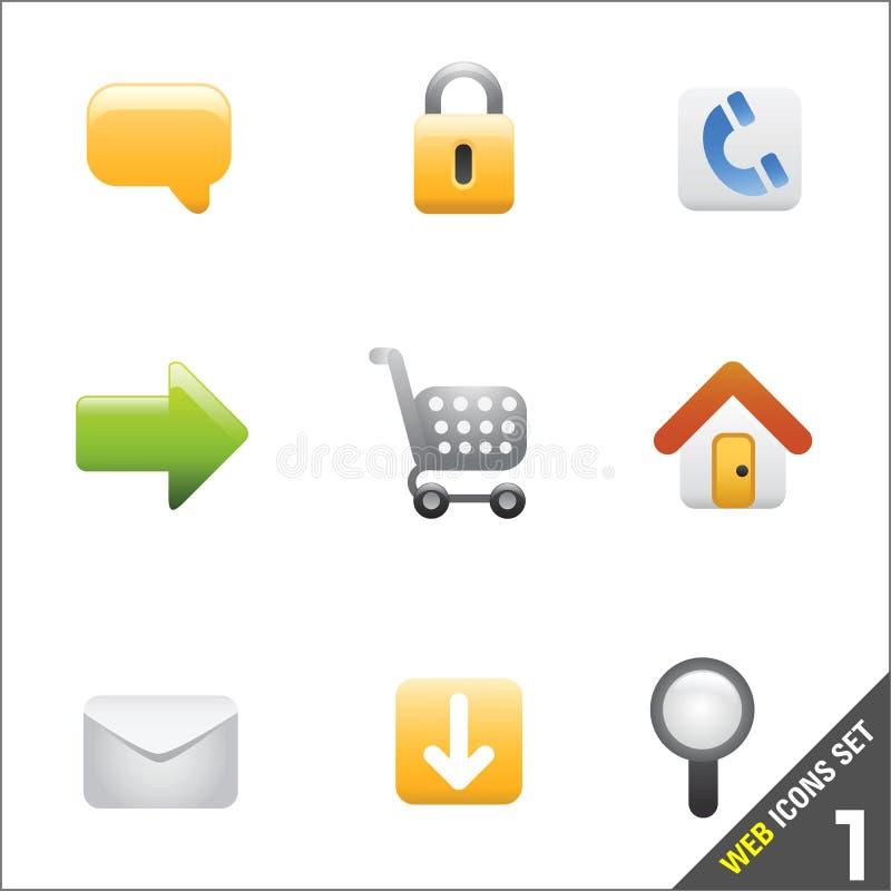 1 wektora ikoną sieci ilustracja wektor