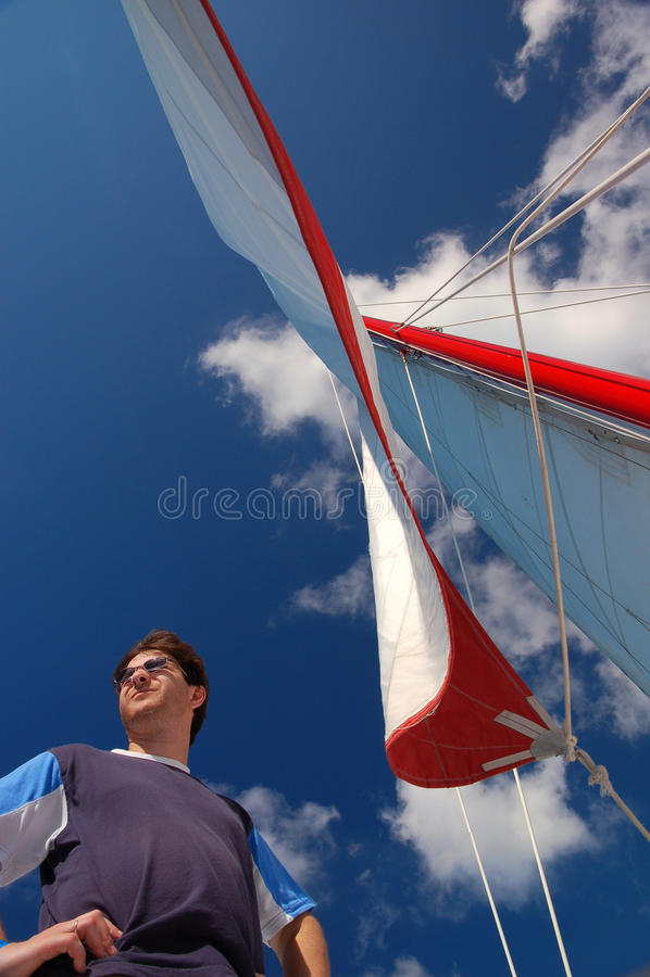 1 yachtman 图库摄影