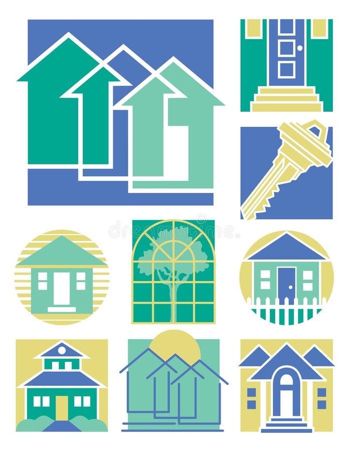 1 zbierania logo w domu ilustracja wektor