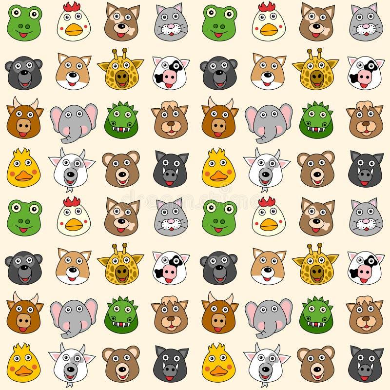 (1) zwierzęta deseniują bezszwowego ilustracji