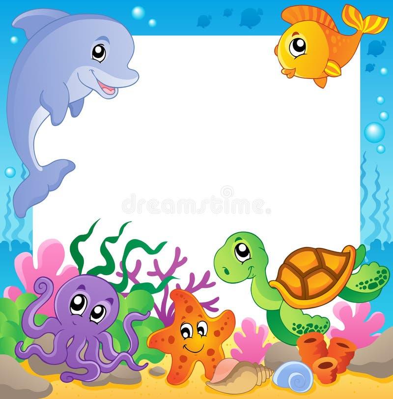 (1) zwierzęta obramiają underwater ilustracji