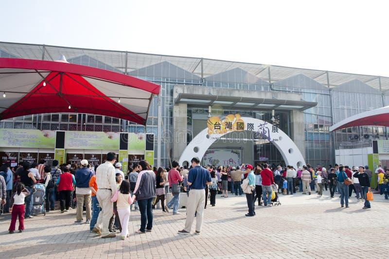 10ème TIOS 2011, exposition internationale d'orchidée de Taiwan photographie stock