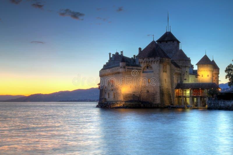 10个大别墅chillon de montreux瑞士 库存照片