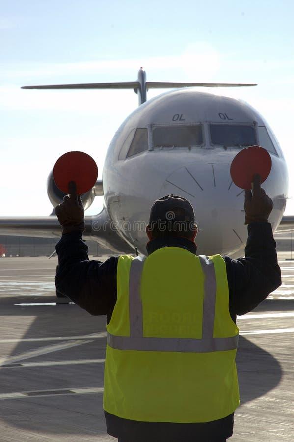 10个机场飞机 免版税图库摄影
