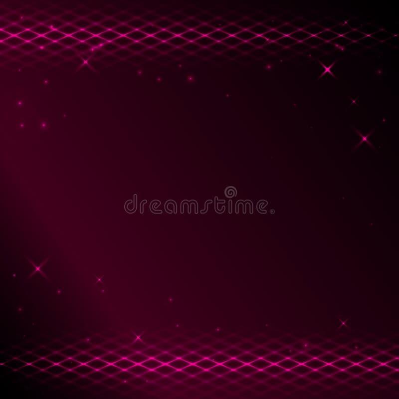 10个背景明亮的绯红色eps网眼图案 库存例证