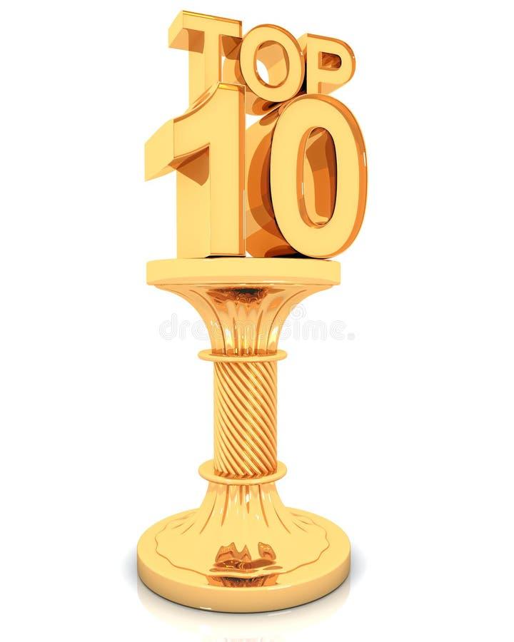 10个证书顶层 向量例证