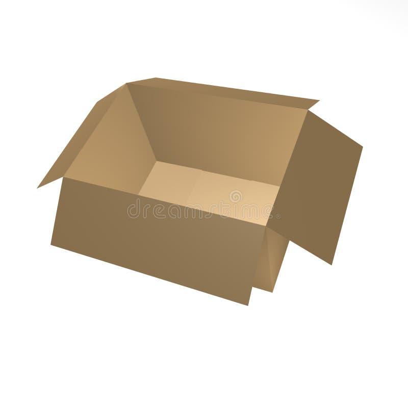 10个配件箱褐色 库存图片