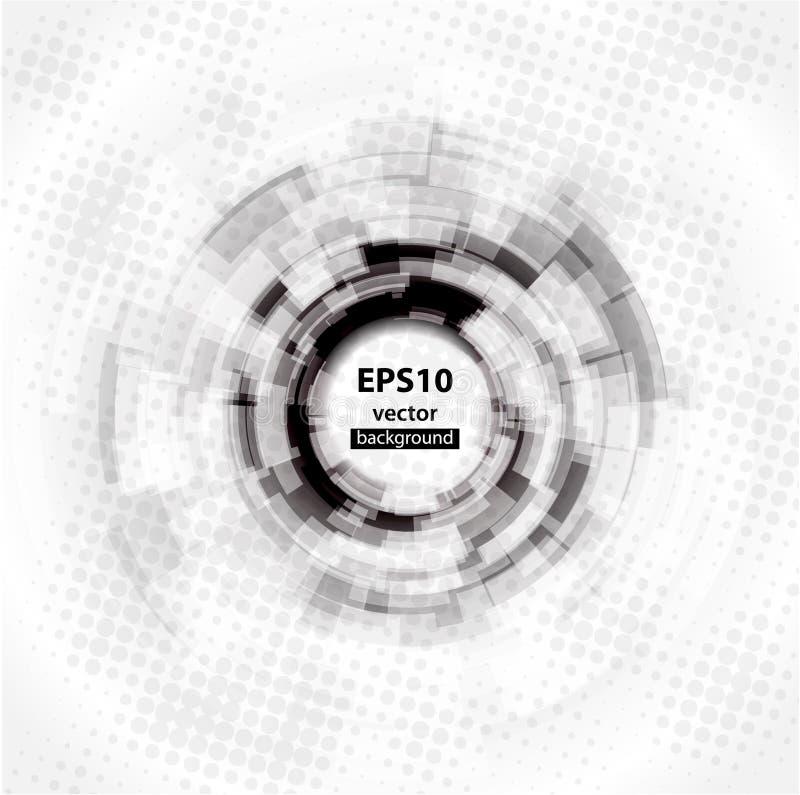 10抽象背景圈子eps techno 向量例证