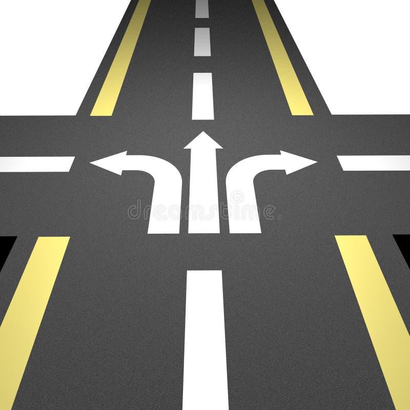 10沥青直路 向量例证