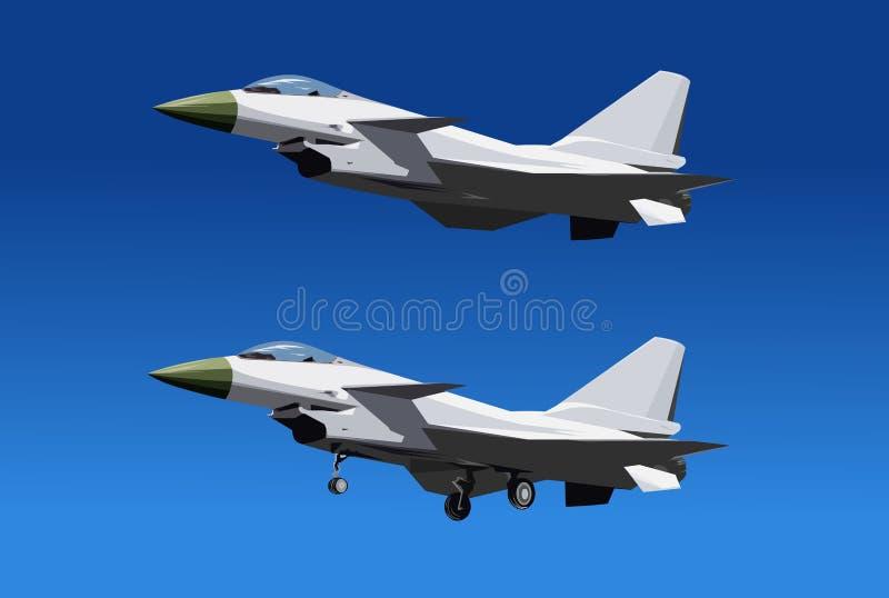 10瓷新战斗机的intercepter j 皇族释放例证