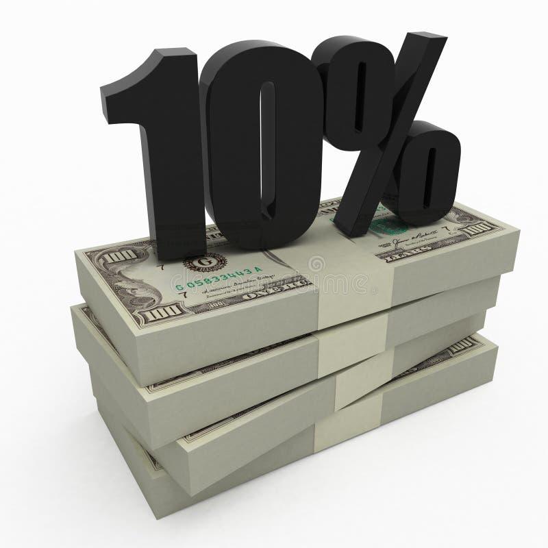 10货币 库存例证