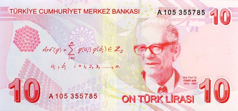 10里拉钞票返回 图库摄影